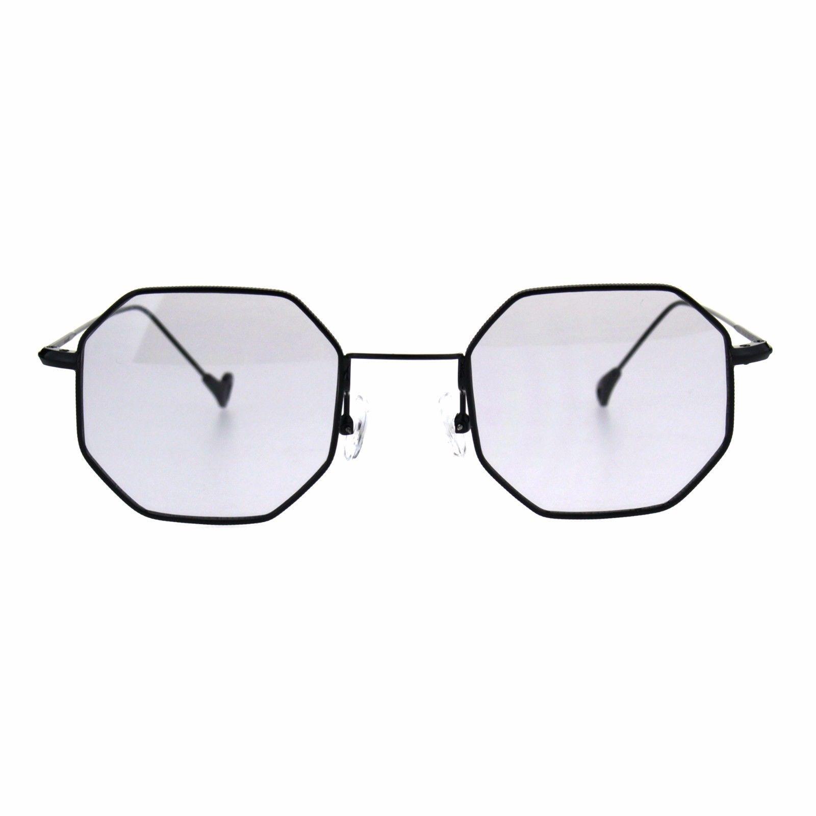 695d8d0d47d4 Mens Vintage Style Octagon Metal Wire Rim Snug Rectangular Sunglasses