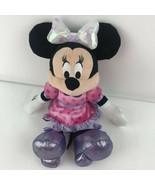 "Disney Minnie Mouse BOWS-A-GLOW Plush Doll Talks Sing Lights Up 15"" Tall... - $14.26"