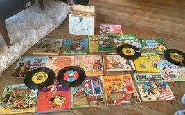 Vintage Disney Peter Pan Lot of 17 Read-Along Books and Records  33 1/3 RPM - $125.00