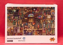 NEW mini jigsaw puzzle Ancient Bookshelf 1000 piece books library SEALED - $8.00