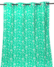 55 x 98 in. Grommet Curtain Paisley Mint with White - $21.35