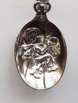 Collector Souvenir Spoon Christmas Wreath Emblem Little Drummer Boy Repousse - $4.99