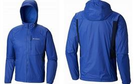 Columbia Men's Red Bluff Rain Jacket 1840691 Water & Wind Resistant, Azu... - $57.79