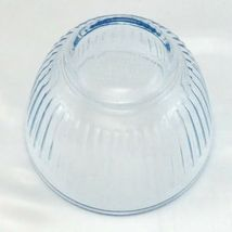 Pyrex 7401-S Ribbed Side Blue Aqua Tint Glass Serving Bowl 3 Cup image 4