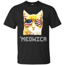 Funny Cat 4th of July T-Shirt 'Meowica - ₹1,574.70 INR+