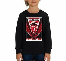 Marvel Studios Black Widow Red Lightning Print Children's Unisex Black S... - $24.08