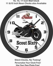 2019 INDIAN SCOUT SIXTY MOTORCYCLE WALL CLOCK-HARLEY DAVIDSON, MOTO GUZZI - £22.24 GBP+