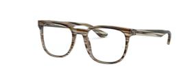 RAY-BAN RAY BAN RB5369 Eyeglass Frames Striped Brown and Grey - $178.95
