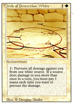 Magic: The Gathering 3rd Edition - Circle of Protection: White - $0.25