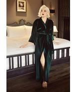 New Womens Robe Velvet Robe Velvet Nightgown Robe worldwide fast shipping - $130.54