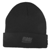 Hall of Fame Mens 2nd Sucks Black Knit Cuff Fold Skate Beanie Winter Ski Hat NWT image 2