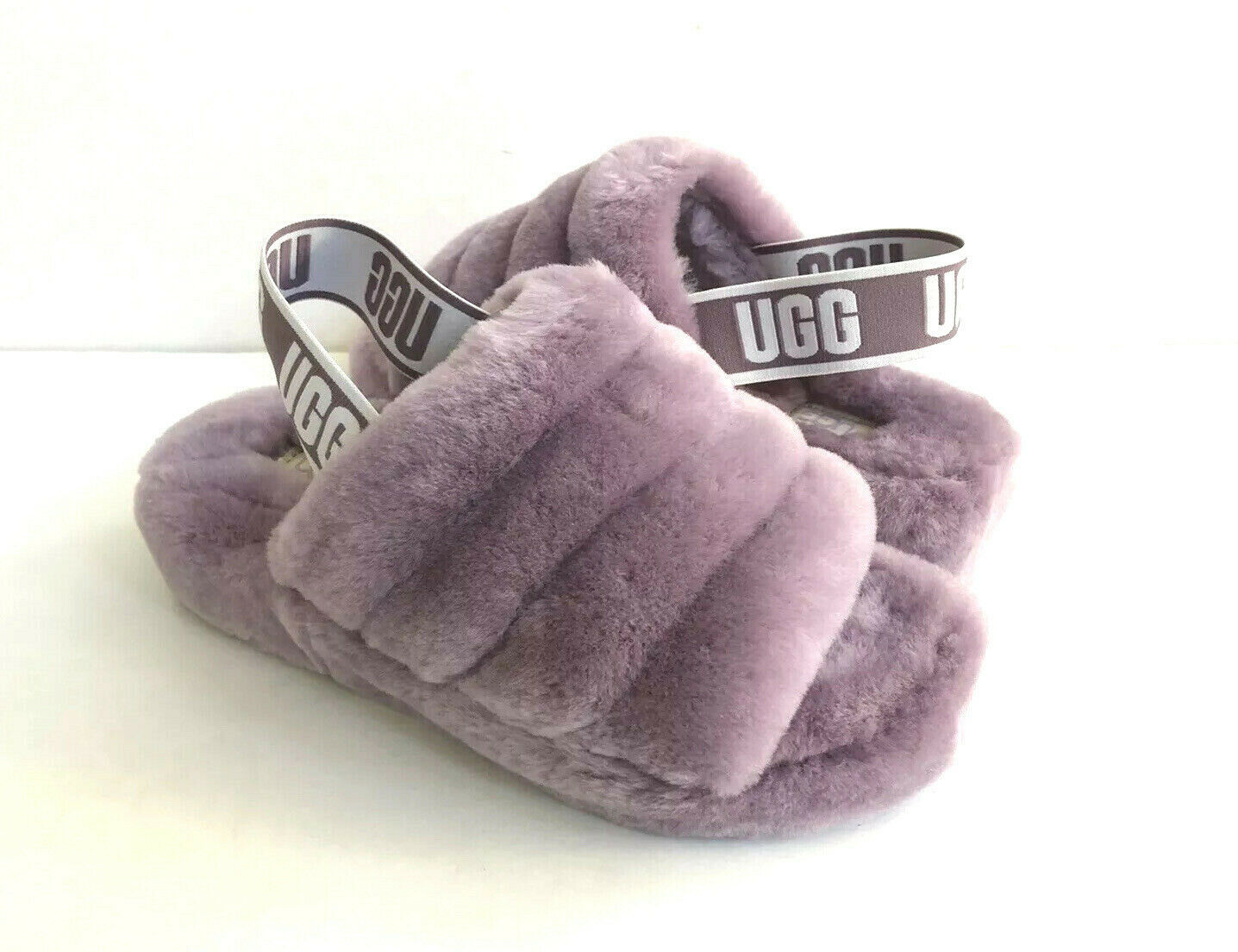 Primary image for UGG FLUFF YEAH SLIDE SHADOW MOCASSIN SLIP ON SANDAL US 10 / EU 41 / UK 8