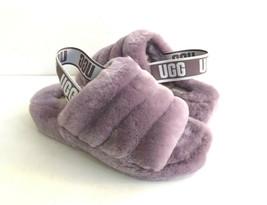 Ugg Fluff Yeah Slide Shadow Mocassin Slip On Sandal Us 10 / Eu 41 / Uk 8 - $101.92