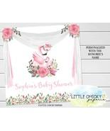 """Flamingo Baby Shower Backdrop, 48"""" x 48"""" Digital Backdrop, Floral Flamingo - $19.95"""
