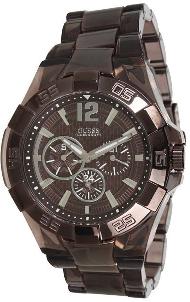NEW GUESS WATCH for Men * IP Brown * Multi-Function Stainless Steel * U0042G2
