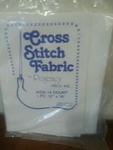 "Cross Stitch Fabric AIDA 14 Count 12"" x 18"" Regency Mills White - $8.41"