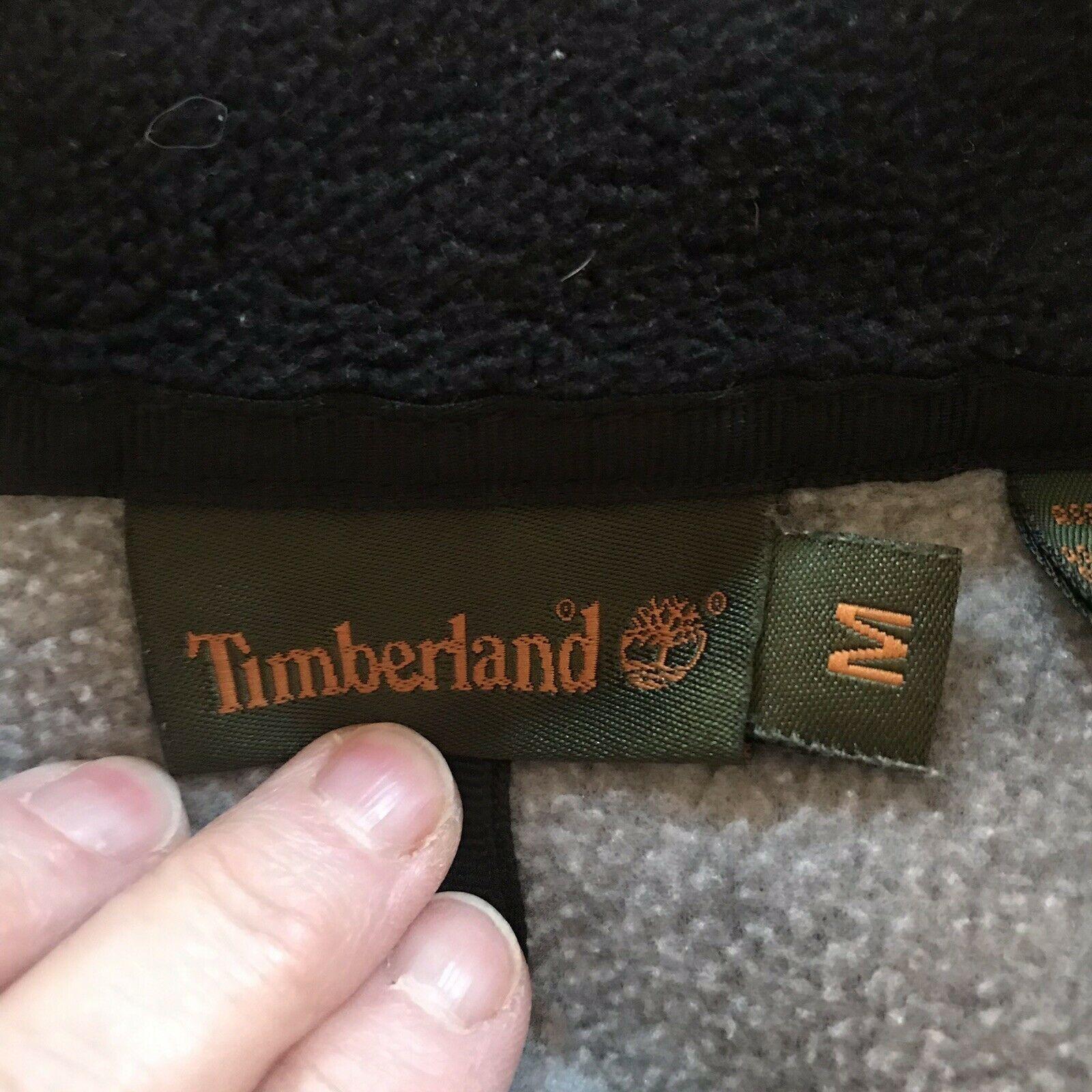 VTG Gray Timberland x Polartec Long Sleeve Fleece Full Zip Jacket Sz Medium