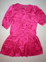New Juicy Couture Dress Short Sleeves Womens 4 NWT Bright Pink Polka Dot... - $398.00
