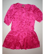 New Juicy Couture Dress Short Sleeves Womens 4 NWT Bright Pink Polka Dot... - $159.20
