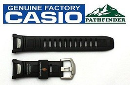 CASIO Pathfinder PAW-1500 16mm Original Black Rubber Watch BAND Strap  - $59.95
