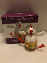 Fitz & Floyd EASTER JIGGLING CHICKEN Chicken Has Springs Jiggles Colorful - $170,44 MXN
