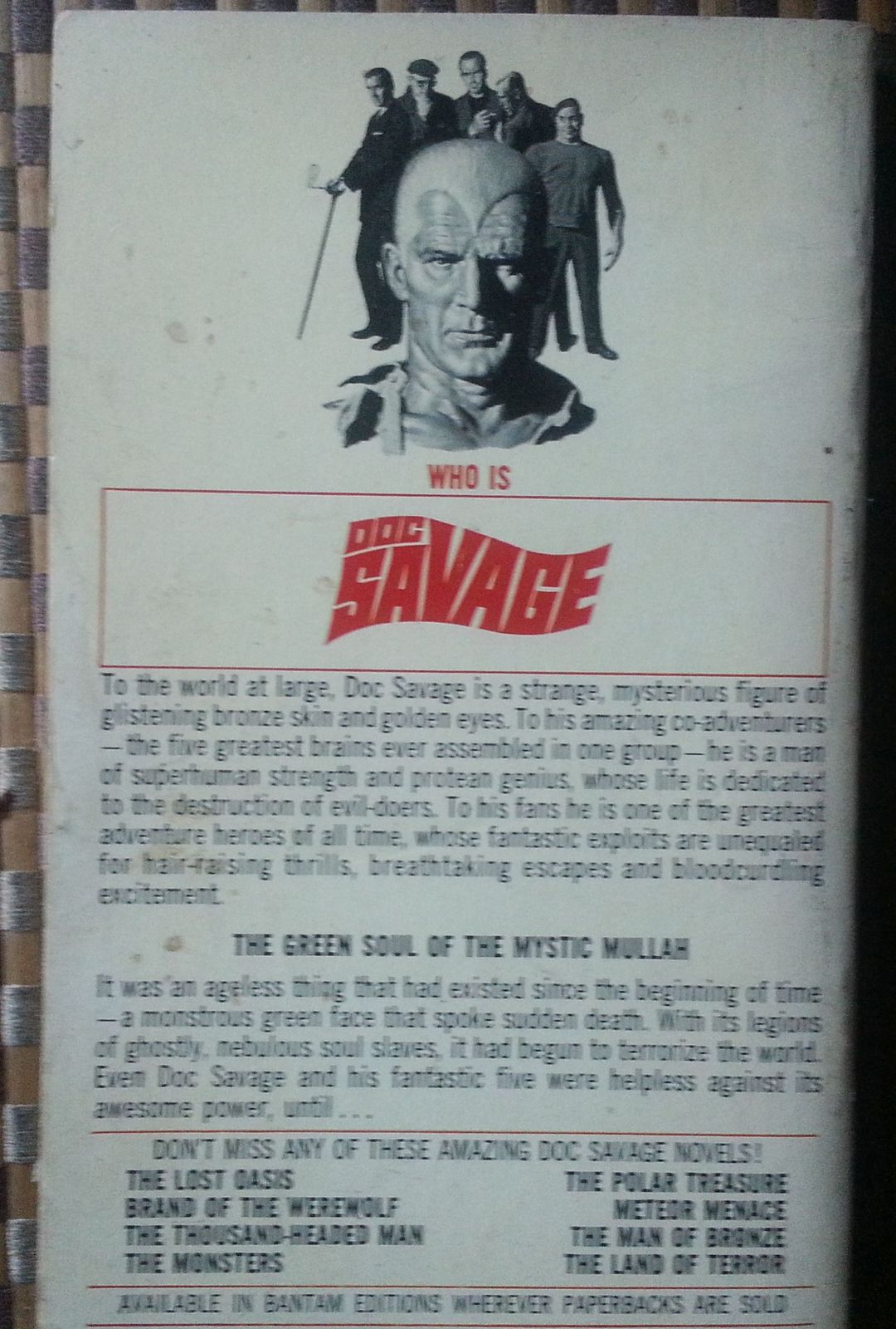 Doc Savage  The Mystic Mullah  by Kenneth Robeson 1965 PB