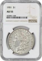 1901 $1 NGC AU55 - Scarce Date - Morgan Silver Dollar - Scarce Date - $455.90