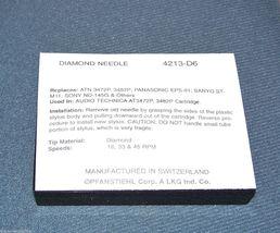 4213-D6 RECORD PLAYER NEEDLE for H H SCOTT TT T4P Cartridge TURNTABLE STYLUS image 3