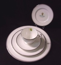 Waterford China Kilbarry Platinum NEW 5 Piece Place Setting Cup Saucer 3 Plates - $58.36