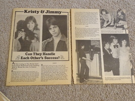 Kristy Mcnichol Jimmy Mcnichol teen magazine pinup clipping can they handle it