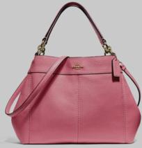 New Coach 28992 small Lexy Pebble Leather Shoulder Bag handbag Peony - $129.00