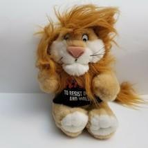 Vintage 1994 DARE America Daren The Lion Plush Stuffed Animal No Drugs Violence - $22.24