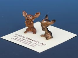 Hagen Renaker Dog Chihuahua Tiny Puppies Begging White Eye Figurine Set image 4