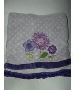 Carters Kidsline Purple Baby Blanket Flowers Floral White Polka Dot - $39.59