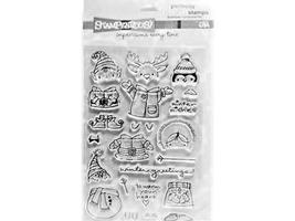 Stampendous-Clear Acrylic Stamp Set-Snowy Short Stacks-SSC1058