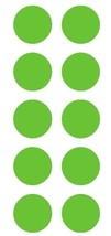 "2"" Lime Green Round Color Coded Inventory Label Dots Stickers - $3.99+"