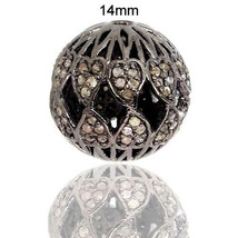 Handmade 925 Sterling Silver Finding Jewelry Natural Pave Diamond Spacer... - $102.85