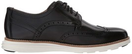 New Men's Cole Haan Original Grand Shortwing Black Ivory Dress Shoes SZ 10