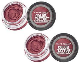 (2 Pack) Maybelline New York Eyestudio ColorTattoo Metal 24HR Cream Gel ... - $11.27