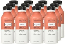 Soylent Meal Replacement Drink Cafe Chai 14 oz Bottles 12 Pack Grocery - $54.33