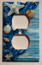 Fishnet Seashells Starfish Ocean Light Switch Outlet Wall Cover Plate Home Decor image 3