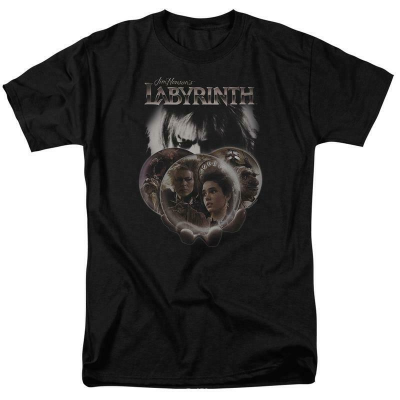 Jim Hensons Labyrinth retro 80s Sci-Fi Fantasy Movie graphic t-shirt LAB143