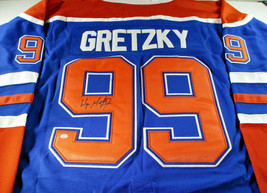 WAYNE GRETZKY / NHL HALL OF FAME / AUTOGRAPHED EDMONTON OILERS PRO STYLE JERSEY image 1