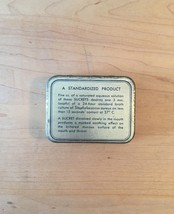 Vintage 50s Hexylresorcinol Sucrets 24 lozenge tin packaging image 2