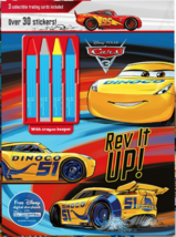 Parragon Disney Cars Coloring Sticker Book Set w Crayons Kids Toddler Re... - $6.98