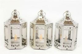 Wedding Electroplate LED Lantern 12cm pack of 3 - $14.78