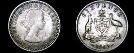 1962 Australian 6 Pence Silver World Coin - Australia - $8.49