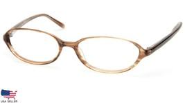 Anne Klein New York Ak 8027 121 Brown Striped Eyeglasses Frame 51 (Lens Missing) - $24.26