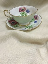Vintage Paragon Footed Floral Cup & Saucer - By Appointment - $33.85