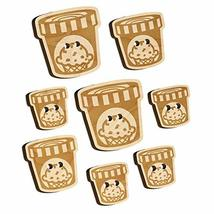 Carton Pint Gallon of Ice Cream Dessert Wood Buttons for Sewing Knitting... - $9.99